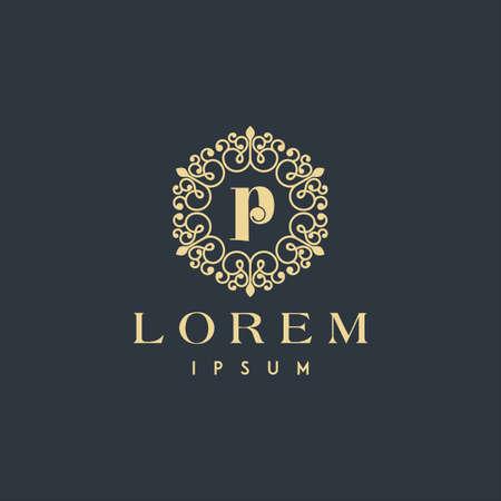 Letter P ornament