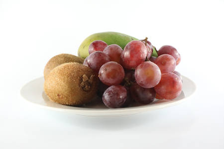 fruits & plate