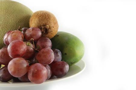 fresh fruits & plate