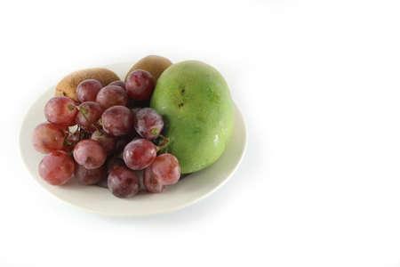 fresh fruits & plate left image