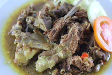 Delicious meat soup