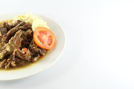 Meat lamb soup Archivio Fotografico