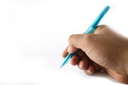 Mano che tiene la penna Archivio Fotografico - 86697815