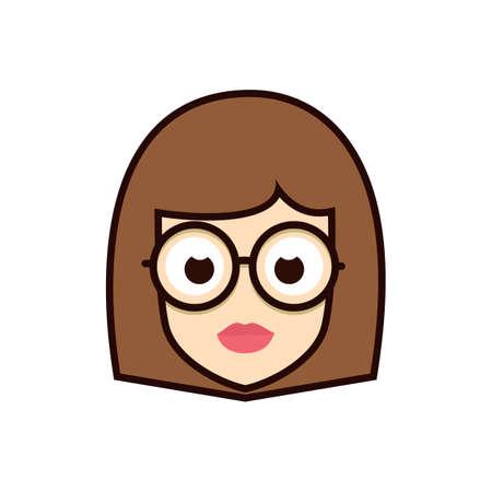 Geek Girl icon.