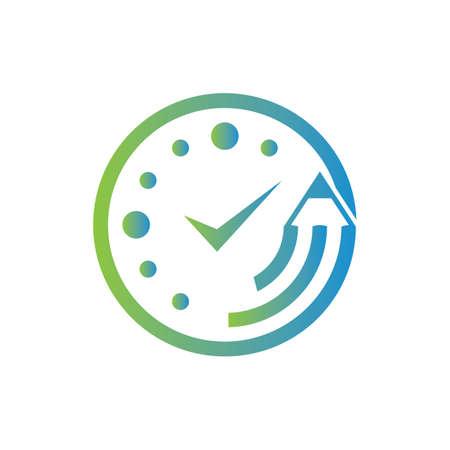 Study time icon design illustration.