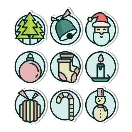 Christmas Vinyl Sticker Icon