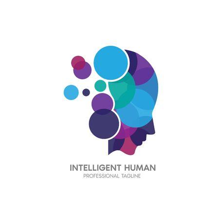 intelligent human design template  イラスト・ベクター素材