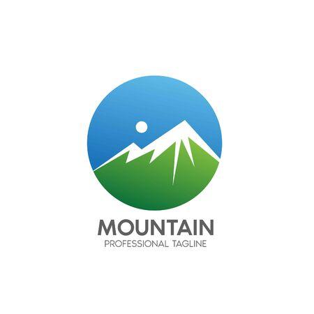 mountain design template Standard-Bild - 143156335
