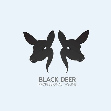 black deer logo design template