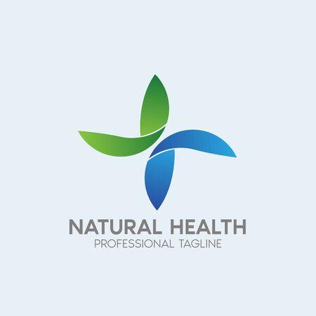 natural health vector logo design template