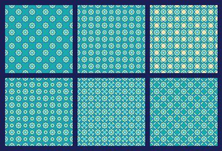 6 パターン  イラスト・ベクター素材