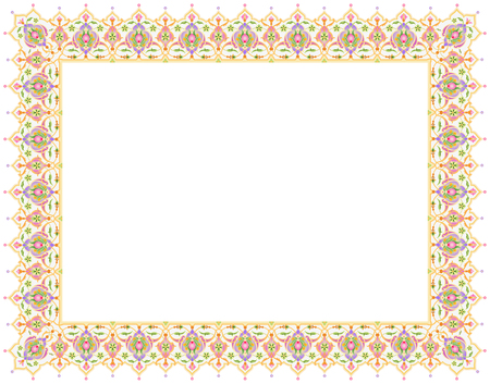 this floral ornament blank template for certificate or book page