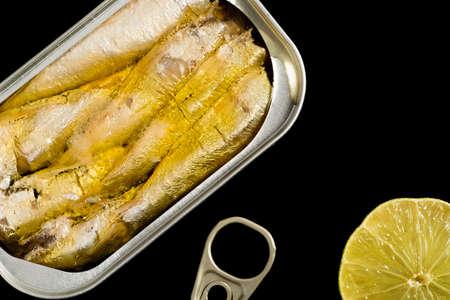 Canned seafood Reklamní fotografie