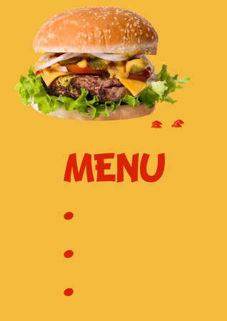 Burger Reklamní fotografie