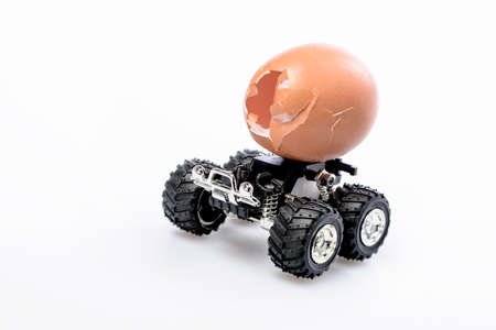 egg with wheels