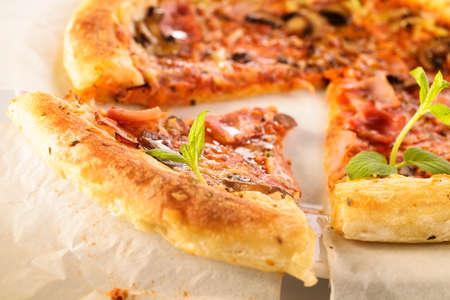 Mediterranean sliced ??pizza Reklamní fotografie