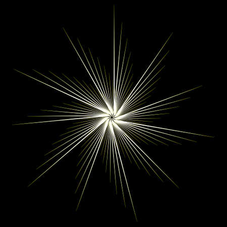 vector dynamic light line fireworks, vector explode flash, circular starburst explosion texture.