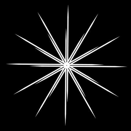 futuristic fractal star explosion with white color