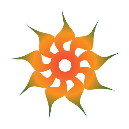 Spirograph style blue flower star creative logo