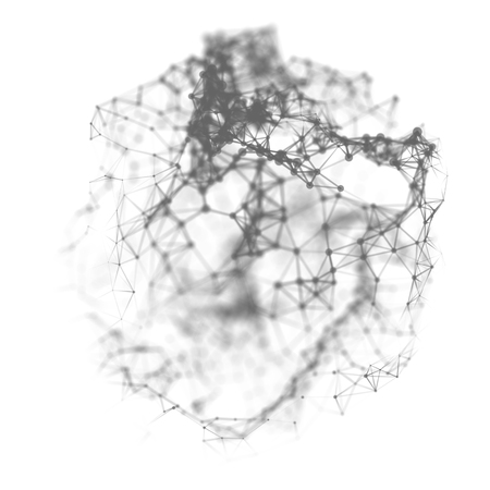 Abstract cybernetic particles background. Standard-Bild