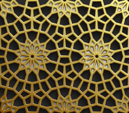 Oriental patterns, geometric ornament collection.