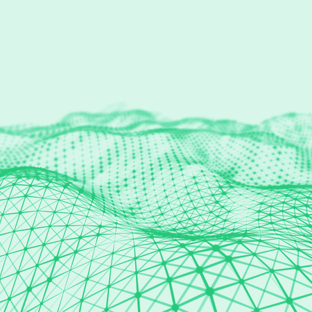 Abstract low poly background. Plexus polygonal background. Plexus low poly landscape background. 3D wireframe plexus background. Plexus background.