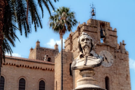 famous Cathedral of Monreale in Sicily, Italy