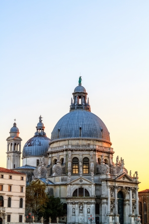 Santa Maria della Salute  Famous Church in Venice in the Sunset photo