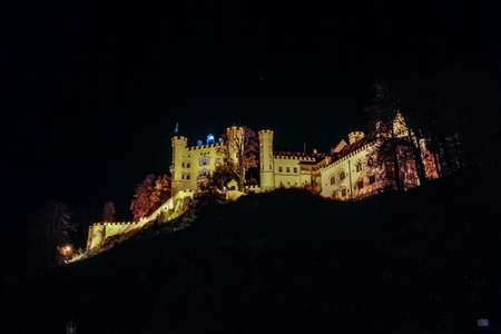 Hohenschwangau in Autumn, Castle for the Kings of Bavaria near Munich, Germany  Picture was taken in Fall October