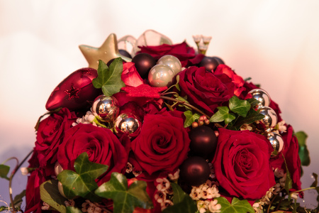 Christmas Style Bouquet of Flowers photo
