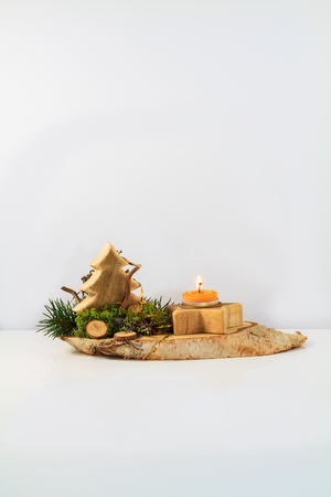 holiday tradition: Wodden Christmas Arrangement  Bavarian Holiday Tradition