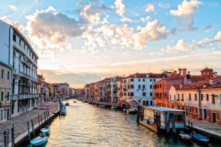 Canals of Venice  Picture from the lagoon city Venice in September in Italy photo