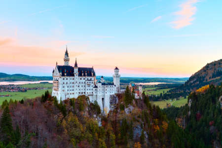schwangau: Neuschwanstein Castle, Schwangau, Bavaria, Germany  Editorial