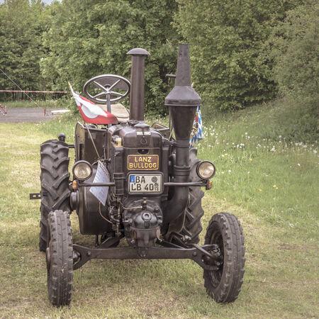 craftsmanship: Vintage Oldie Tractor  Sepia Tone  German Craftsmanship