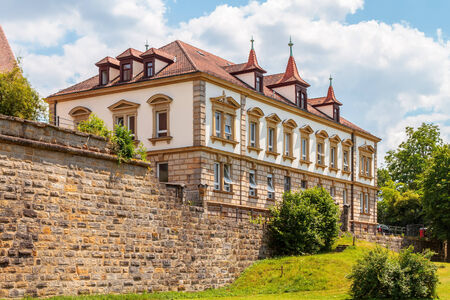 magistrates: Magistrates Court in the german city of Forchheim in Oberfranken, build on the old city wall