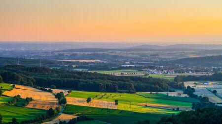rural countryside: Idyllic Bavarian Rural Countryside Summer Landscape.