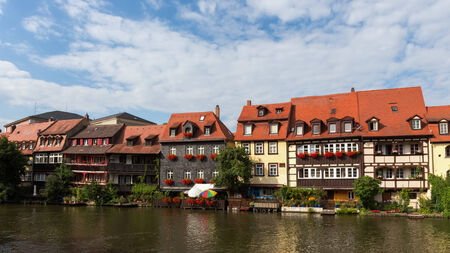 the little venice: Historical Fisher Houses from the 17th Century at the Regnitz River