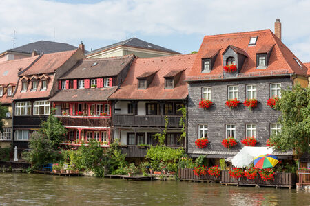 17th century: Historical Fisher Houses from the 17th Century at the Regnitz River