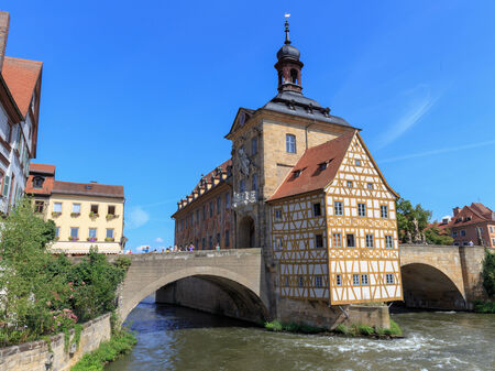 oldtown: The historical town hall of Bamberg, Germany Stock Photo