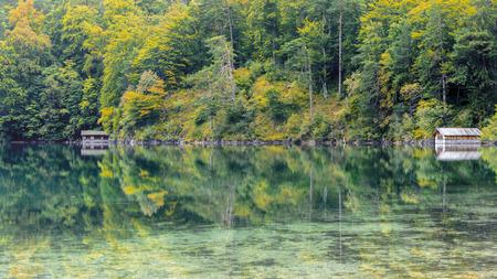 Alpsee in Fall, sea in Hohenschwangau near Munich in Bavaria, Germany photo