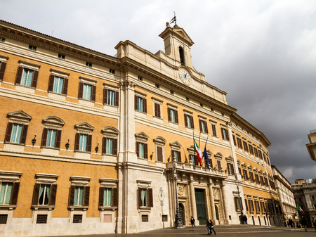 inner city: ROME, ITALY - MARCH 27 2014: Euopean Parliament in Rome Inner City
