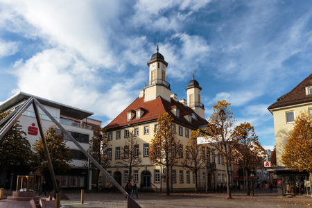 baden wurttemberg: TUTTLINGEN GERMANY - NOVEMBER 06 2014: Historical City Hall in the city of Tuttlingen in Baden Wurttemberg