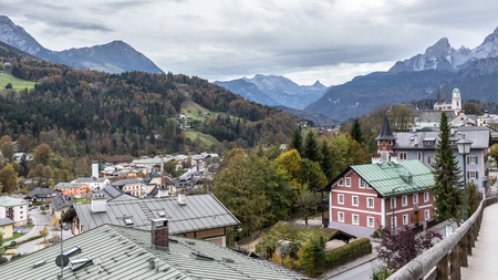 City of Berchtesgaden at the Koenigssee near Austria in south Bavaria, Germany Stock fotó