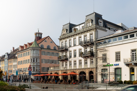 baden wurttemberg: CONSTANCE, GERMANY - NOVEMBER 02 2014: Historical Houses in Constance in Baden Wurttemberg, Germany