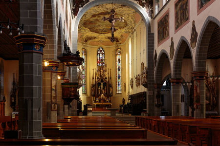 baden wurttemberg: CONSTANCE, GERMANY - NOVEMBER 02 2014: Interior Picture of St. Stephanus Church in Constance in Baden Wurttemberg, Germany Editorial