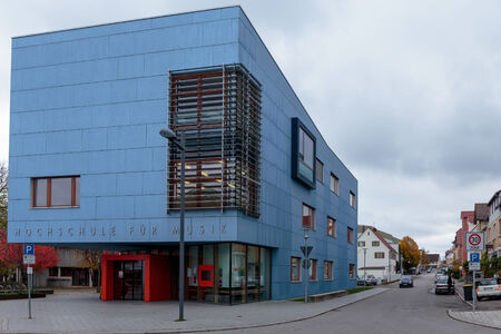 baden wurttemberg: TROSSINGEN, GERMANY - NOVEMBER 02 2014: Music High School in Trossingen in Baden Wurttemberg, Germany