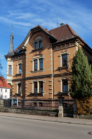 baden wurttemberg: TROSSINGEN, GERMANY - NOVEMBER 02 2014: Historical Hous in Trossingen in Baden Wurttemberg, Germany