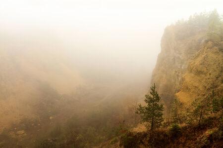 foggy november landscape in Bavaria, Germany photo