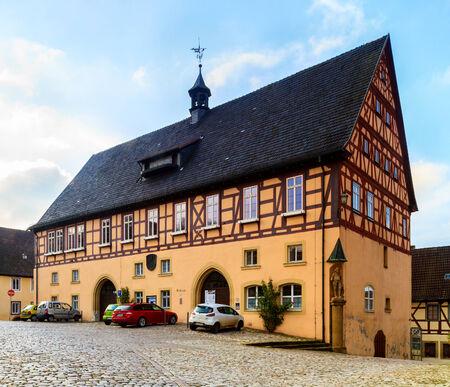 half  timbered: KOENIGSBERG, GERMANY - NOVERMBER 08 2013: Historical half timbered City Hall of Koenigsberg