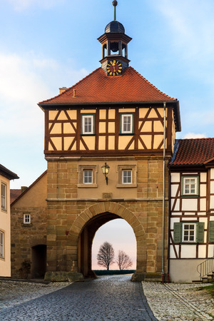 timbered: Half Timbered Historical Building in Koenigsberg, Germany Stock Photo